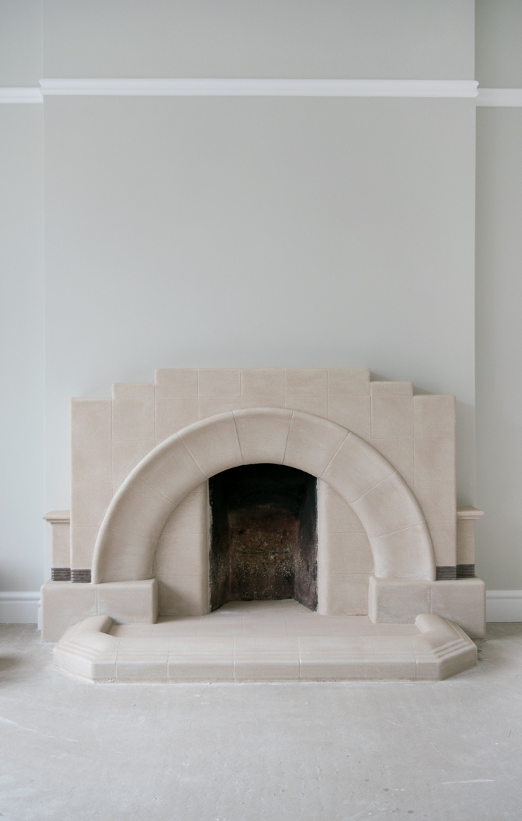 fireplace first coat